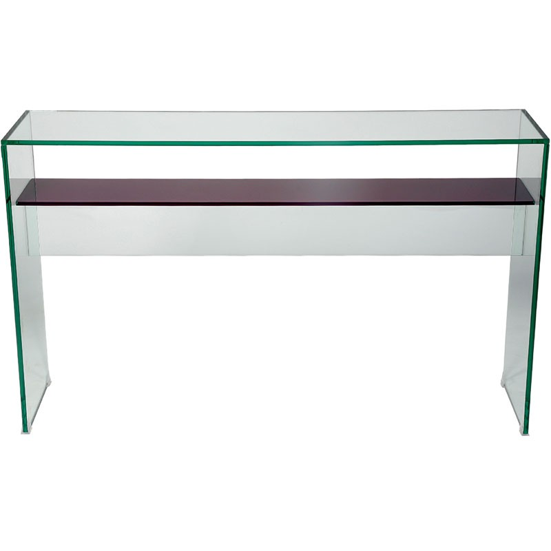 helderr beljo console table with coloured glass shelf. Black Bedroom Furniture Sets. Home Design Ideas