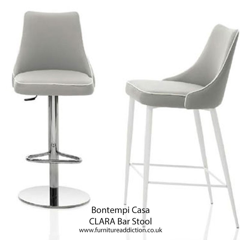 Bontempi Casa Clara Bar Stool With Gas Lift