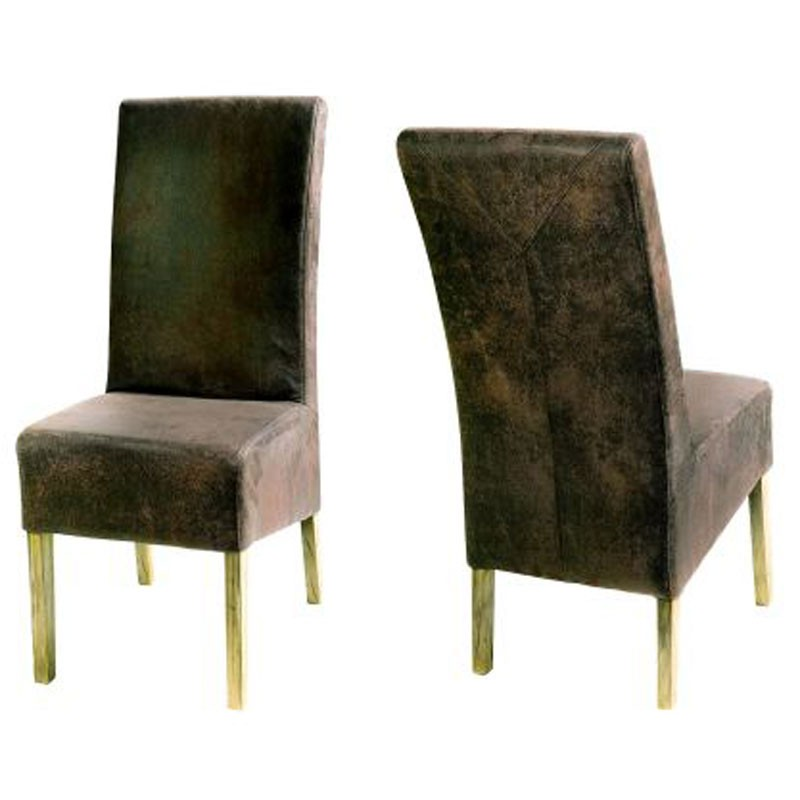 Nordica Dining Chair Faux Rustic Leather