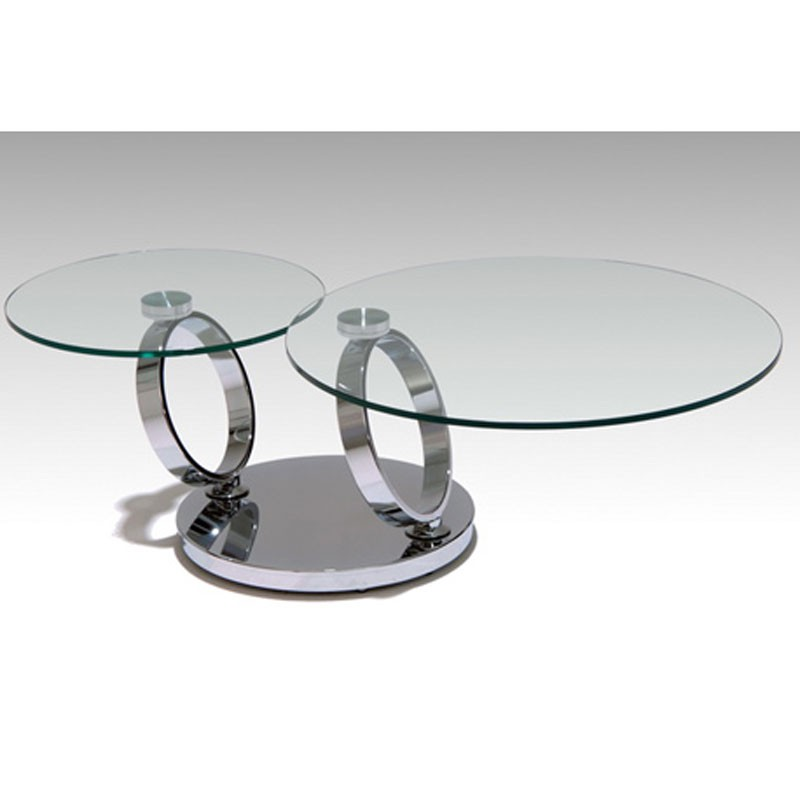 Rings Swivel Top Coffee Table