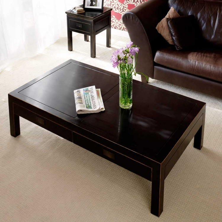 Black Lacquer Coffee Table Uk: Oriental Coffee Table Distressed Lacquer. From