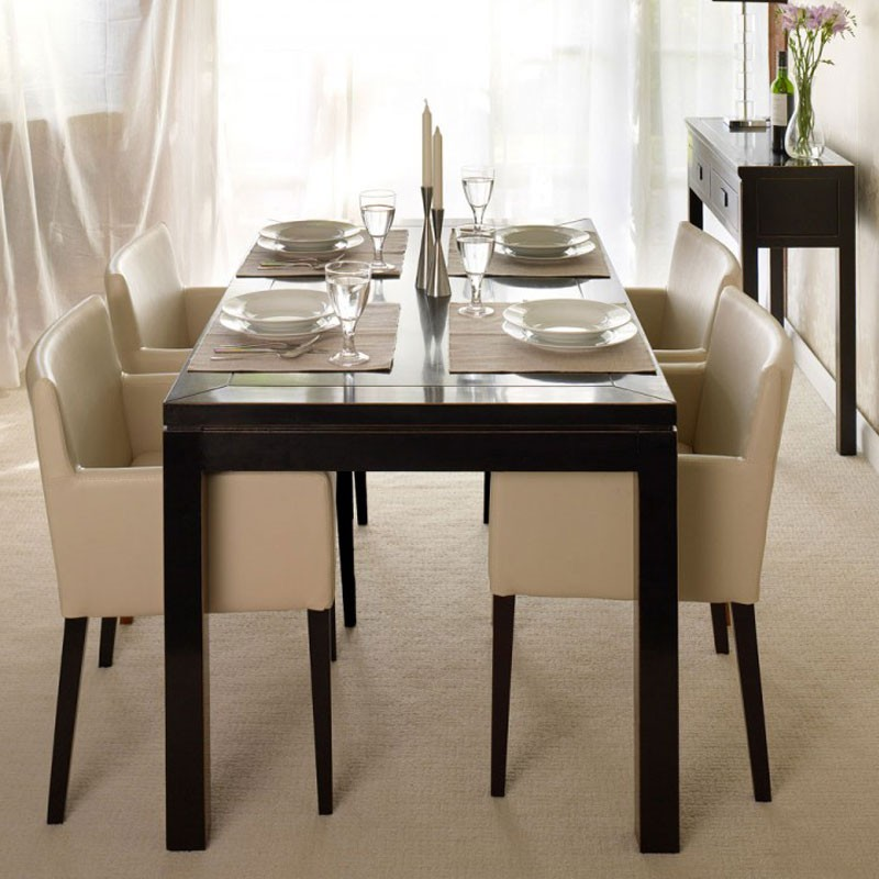 Oriental Dining Table: Oriental Black Lacquer Dining Table