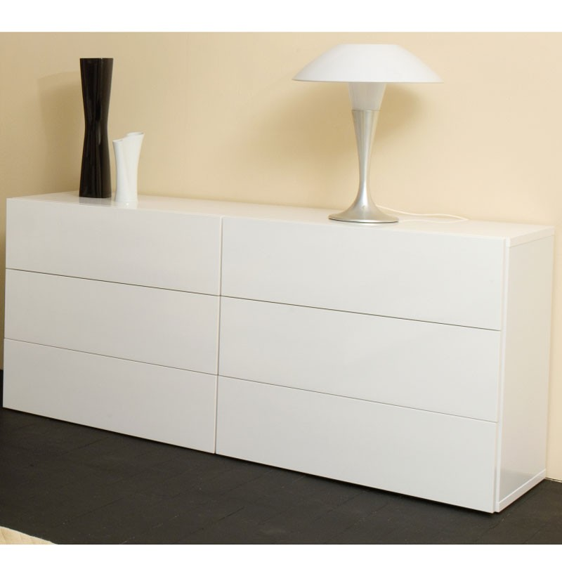 Temahome aurora chest of drawers - Commode 6 tiroirs blanche ...