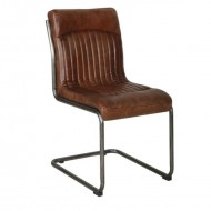 HIPSTER Retro Dining Chair Aged Leather