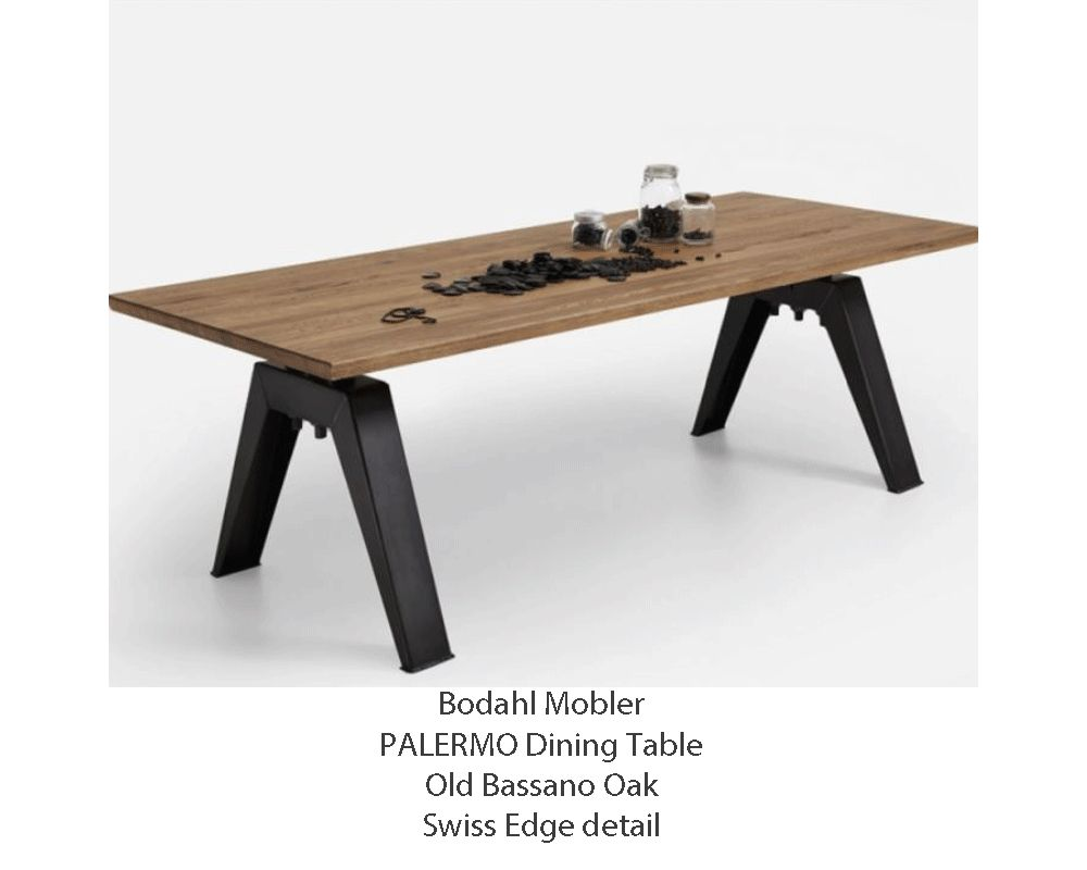 Bodahl Mobler PALERMO Solid Rustic Balk Oak Dining Table - 8 sizes