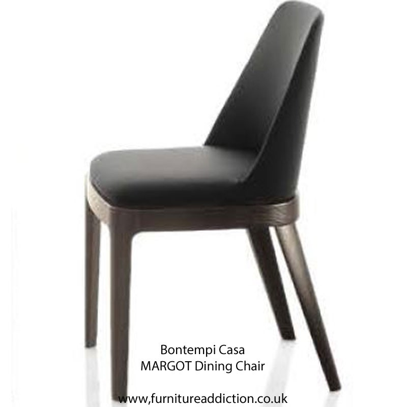 Bontempi Casa MARGOT ARM Chair WOOD frame - Ecoleather or Nabuk Suede