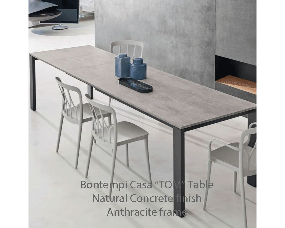 Bontempi Casa TOM 3 Panel Extending Table 7 Melamine top finishes 3 sizes