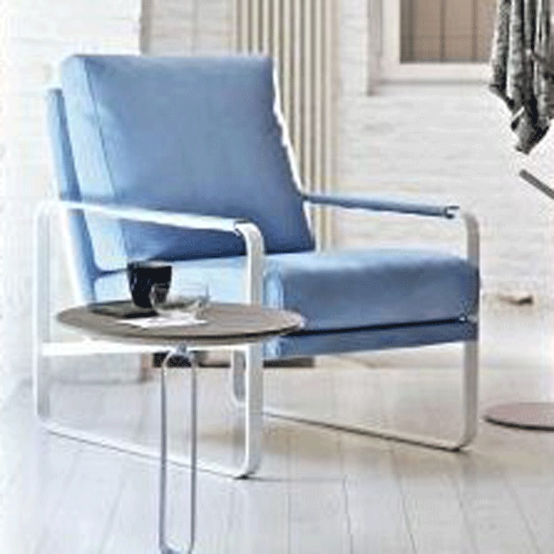 Bontempi Casa CLARISSA Easy Chair Eco Leather and Nappa Leather