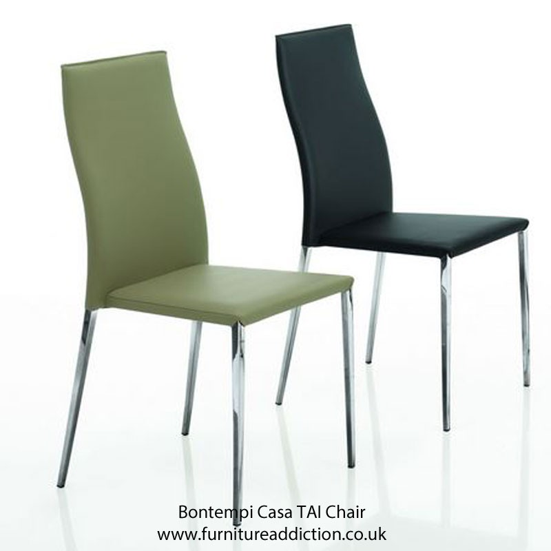 Bontempi Casa TAI Dining Chair with Ecoleather or Nabuk Suede