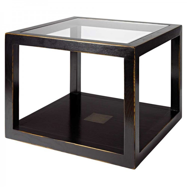Black Lacquer Coffee Table Uk: Oriental Cube Coffee Table Distressed Lacquer