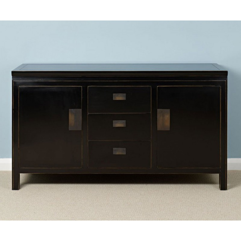 Oriental Sideboard Distressed Lacquer Two Sizes