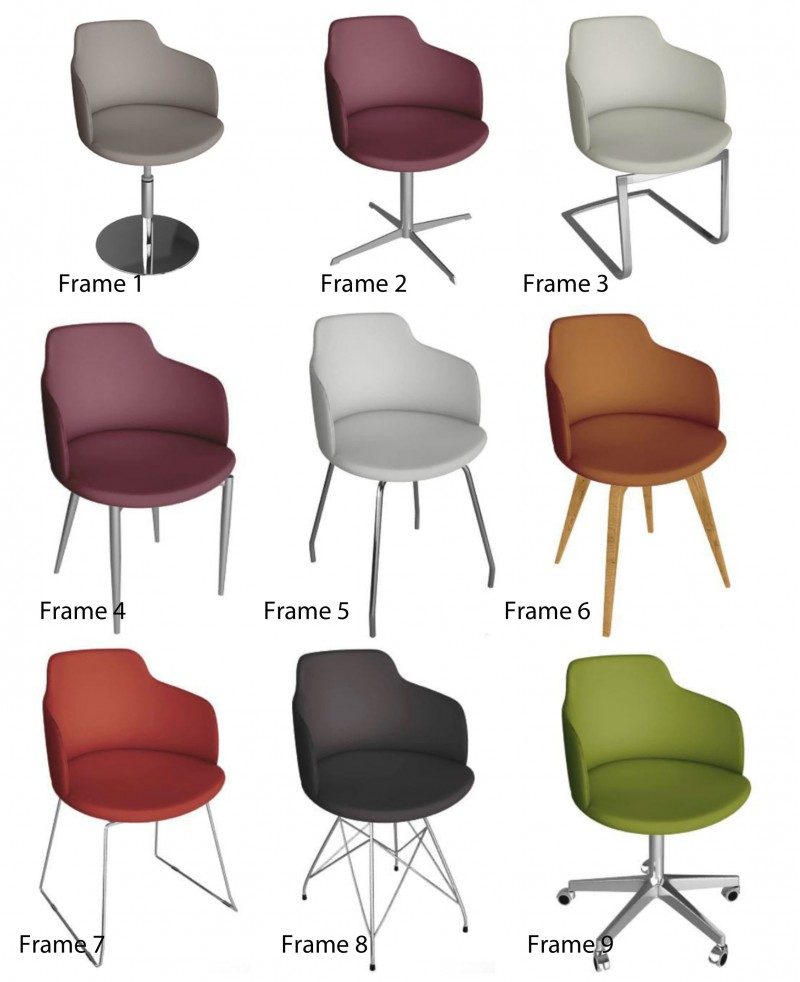 Peressini Casa GLAMOUR P Chair System NATURAL LEATHER