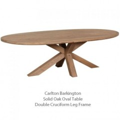 barkington solid french oak table
