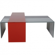 helderr beljo bridge coloured glass coffee table