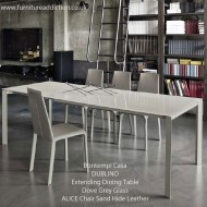 bontempi casa dublino extending dining table