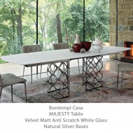 bontempi casa majesty extending dining table