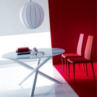bontempi casa trio circular dining table