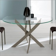 bontempi casa barone 130cm circular dining table