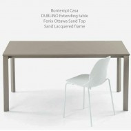 bontempi casa extending dublino dining table super fenix laminate top