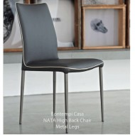 bontempi casa nata dining chair high back metal legs