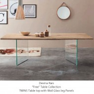 devina nais twins dining table solid oak in over 30 finishes
