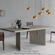 devina nais wood dining table solid oak in over 30 finishes
