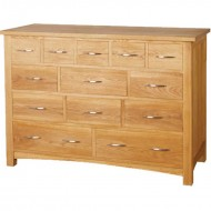 hamilton oak 13 drawer chest