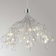 luxor 24  light pendant silver