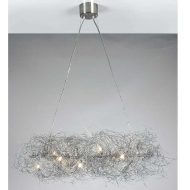 wire 7 light pendant
