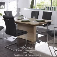 mwa akuell norwich extending dining table - 2 sizes
