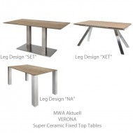mwa verona super ceramic tables fixed top