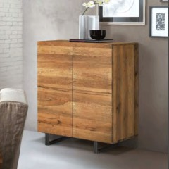 oliver b Quardra solid wild oak cabinet collection