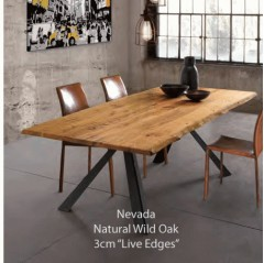 oliver b flex solid wild oak diningtable 6cm thick with raw edge