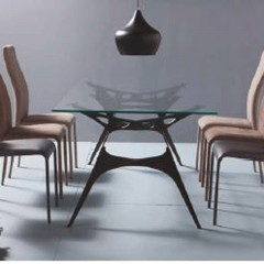 peressini casa blaze extending glass dining table