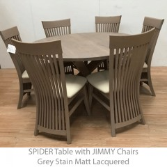 spider solid oak dining table