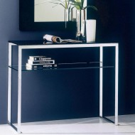 bontempi casa hip hop glass console table available in a variety of colours