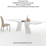 bontempi casa fiandre extending dining table