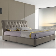 air fully upholstered leather bed
