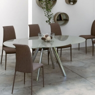 peressini myles extending glass dining table