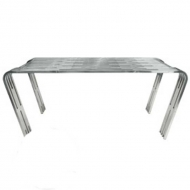 stainless steel rib dining table