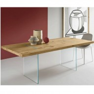 tonelli tavolante dining table aged oak