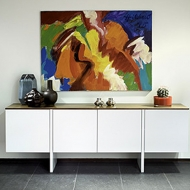 tundra sideboard white lacquer with oak or walnut
